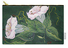Carry-all Pouch featuring the painting Hummingbird And Lilies by Sharon Duguay