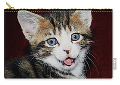 Carry-all Pouch featuring the photograph Rude Kitten by Terri Waters