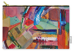 Carry-all Pouch featuring the painting Rugged Strokes by Jason Williamson
