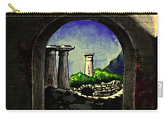 Carry-all Pouch featuring the painting Ruins by Salman Ravish