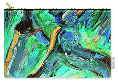 Carry-all Pouch featuring the painting Runners by Dominic Piperata