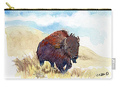 Running Buffalo Carry-all Pouch