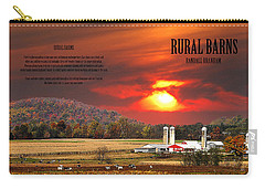 Carry-all Pouch featuring the photograph Rural Barns  My Book Cover by Randall Branham