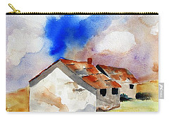 Rural Houses And Dramatic Sky Carry-all Pouch by Carlin Blahnik