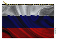 Russian Flag Waving On Canvas Carry-all Pouch