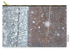 Rust Not Sleeping In The Snow Carry-all Pouch by Brian Boyle