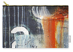 Carry-all Pouch featuring the photograph Rusted Waterfall by Jani Freimann