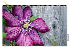Carry-all Pouch featuring the photograph Rustic Clematis by Susan  McMenamin