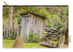 Rustic Fence And Outhouse Carry-all Pouch