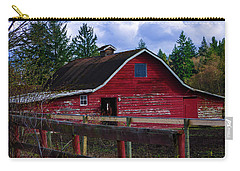 Carry-all Pouch featuring the photograph Rustic Old Horse Barn by Jordan Blackstone
