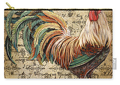Rustic Rooster-jp2120 Carry-all Pouch by Jean Plout