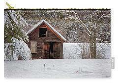 Rustic Shack In Snow Carry-all Pouch