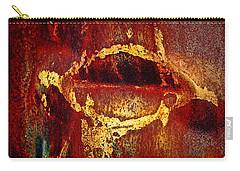 Rusty Kiss Carry-all Pouch by Leanna Lomanski