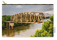 Carry-all Pouch featuring the photograph Rusty Old Railroad Bridge by Sue Smith