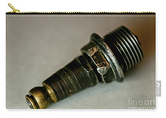 Carry-all Pouch featuring the photograph Rusty Old Spark Plugs by Wilma  Birdwell