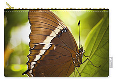 Carry-all Pouch featuring the photograph Rusty Tip Butterfly by Bradley R Youngberg