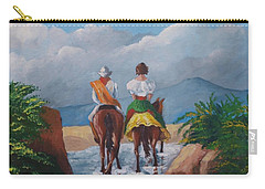 Sabanero And Wife Crossing A River Carry-all Pouch