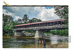 Carry-all Pouch featuring the photograph Saco River Covered Bridge  by Debbie Green