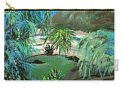 Carry-all Pouch featuring the painting Sacred Cenote At Chichen Itza by Alys Caviness-Gober