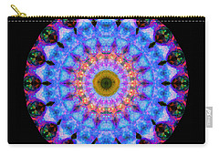 Sacred Crown - Mandala Art By Sharon Cummings Carry-all Pouch by Sharon Cummings