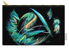 Carry-all Pouch featuring the painting Sacred Feather Dance by Asha Carolyn Young