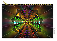 Carry-all Pouch featuring the drawing Sacred Power Of Nine by Derek Gedney