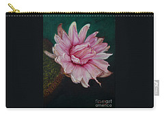 Carry-all Pouch featuring the painting Sacred Red Lotus by Mukta Gupta
