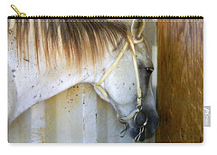 Carry-all Pouch featuring the photograph Saddle Break by Kathy Barney