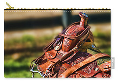 Saddle In Waiting Western Saddle Horse Carry-all Pouch