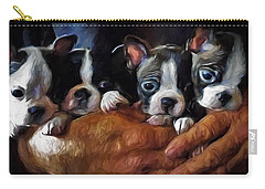 Safe In The Arms Of Love - Puppy Art Carry-all Pouch by Jordan Blackstone
