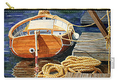 Carry-all Pouch featuring the painting Safe Mooring by Roger Rockefeller
