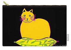 Saffron Cat On Black Carry-all Pouch