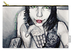Carry-all Pouch featuring the painting Sage by Shana Rowe Jackson