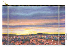 Sagebrush Sunset Triptych Carry-all Pouch