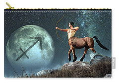 Sagittarius Zodiac Symbol Carry-all Pouch by Daniel Eskridge