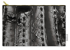 Saguaro Cactus Black And White 1 Carry-all Pouch