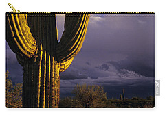 Saguaro Cactus Sunset At Dusk Arizona State Usa Carry-all Pouch