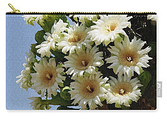 Carry-all Pouch featuring the photograph Saguaro Flower Cluster by Tom Janca