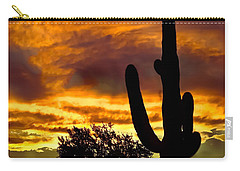 Saguaro Silhouette  Carry-all Pouch by Robert Bales