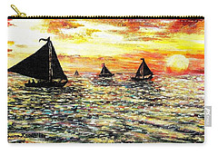 Carry-all Pouch featuring the painting Sail Away With Me by Shana Rowe Jackson