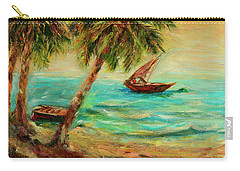 Sail Boats On Indian Ocean  Carry-all Pouch by Sher Nasser