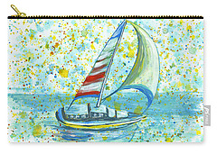 Carry-all Pouch featuring the painting Sail On Maui by Darice Machel McGuire
