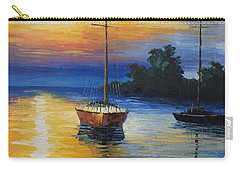 Sailboat At Sunset Carry-all Pouch