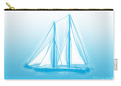 Sailboat Background Carry-all Pouch by Methune Hively