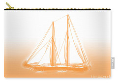 Sailboat Background Orange Carry-all Pouch by Methune Hively
