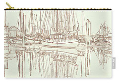 Carry-all Pouch featuring the photograph Sailboat On Liberty Bay by Greg Reed