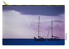 Carry-all Pouch featuring the photograph Sailboats At Sunset by Don Schwartz