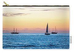 Sailboats At Sunset Off Key West Florida Carry-all Pouch