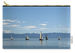 Sailboats In Blue Carry-all Pouch