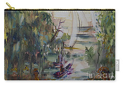 Sailboats Through The Trees Carry-all Pouch by Avonelle Kelsey